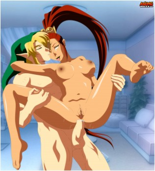 Link and Nabooru reverse cowgirl anal